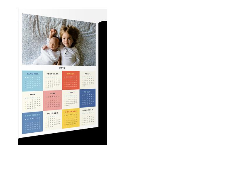 Magnetický kalendář A3+ 2019 na lednici