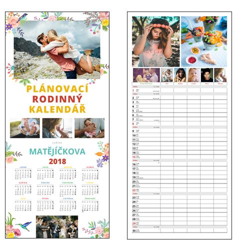 MAXIMUS Plánovací rodinný měsíční kalendář 2018